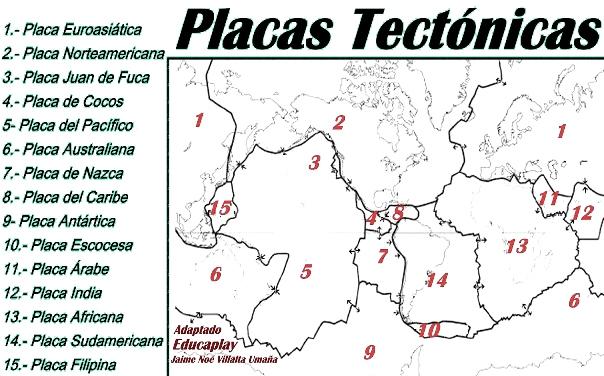 ¿Cuántas placas tectónicas existen?