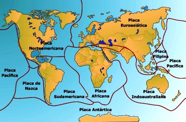 Placas tectónicas oceánicas